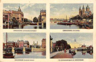 Ansichtkaart Amsterdam Kloveniersburgwal P.H. Kade Blauwe Brug Tol Watergraafsmeer 1907 HC22797