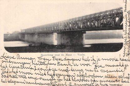 Ansichtkaart Venlo Spoorbrug over de Maas 1900 Spoorwegen HC22838