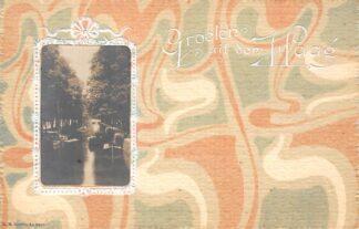 Ansichtkaart 's-Gravenhage Foto op reliëfkaart Groeten uit Den Haag HC22870
