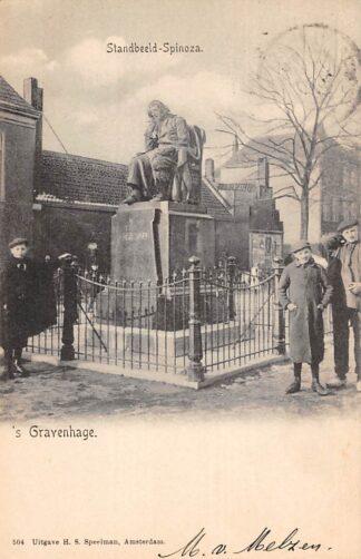 Ansichtkaart 's-Gravenhage Standbeeld Spinoza 1902 HC22875