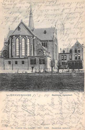 Ansichtkaart 's-Gravenhage Beeklaan Agnes kerk 1903 HC22881
