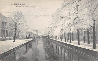Ansichtkaart 's-Gravenhage Mauritskade tijdens den ijzel Winter 1908 HC22893