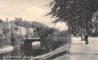 Ansichtkaart 's-Gravenhage Brug Sweelinckplein 1906 HC22915