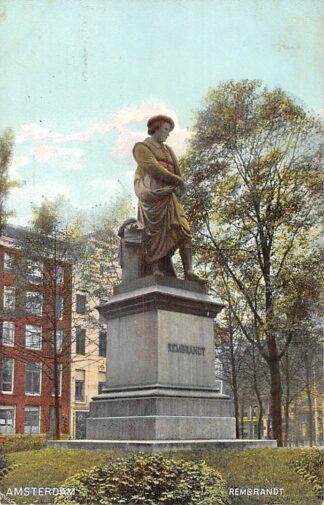 Ansichtkaart Amsterdam Monument Rembrandt 1908 HC22930