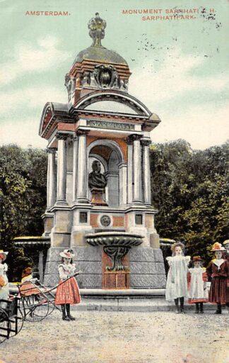 Ansichtkaart Amsterdam Monument Sarphati Sarphatipark 1909 HC22932