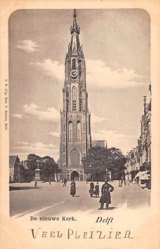 Ansichtkaart Delft De Nieuwe Kerk Markt 1900 HC22940