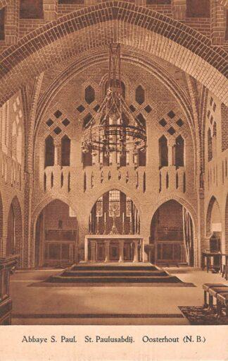 Ansichtkaart Oosterhout (NB) Klooster Abbaye St. Paul St. Paulusabdij HC22949