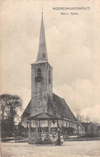 Ansichtkaart Noordwijkerhout Hervormde Kerk en Muziektent Nauta 9598 HC22955