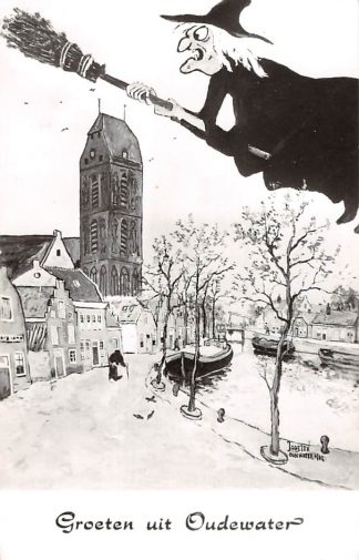 Ansichtkaart Oudewater Groeten uit met heks HC22966