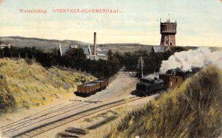 Ansichtkaart Overveen Bloemendaal Stoomtrein Waterleiding 1915 Haarlem Spoorwegen HC22976