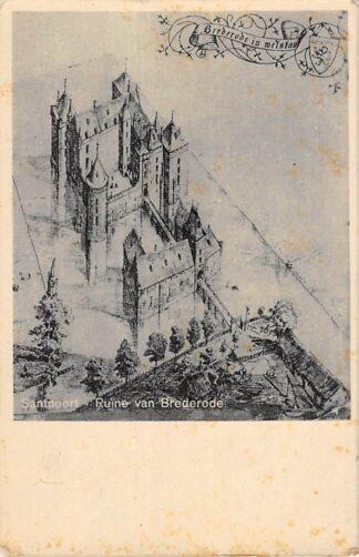 Ansichtkaart Santpoort Ruïne van Brederode Bloemendaal Haarlem HC22980
