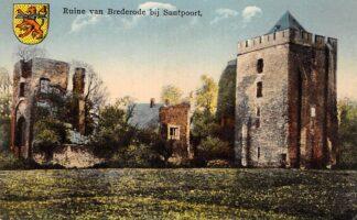 Ansichtkaart Santpoort Ruïne van Brederode Bloemendaal Haarlem HC22982