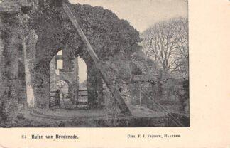 Ansichtkaart Santpoort Ruïne van Brederode Bloemendaal Haarlem HC22983