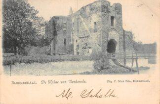 Ansichtkaart Bloemendaal Santpoort De Ruïne van Brederode 1901 Haarlem HC22985