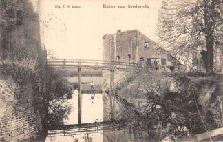 Ansichtkaart Santpoort Ruïne van Brederode 1906 Tulp Bloemendaal Haarlem HC22987