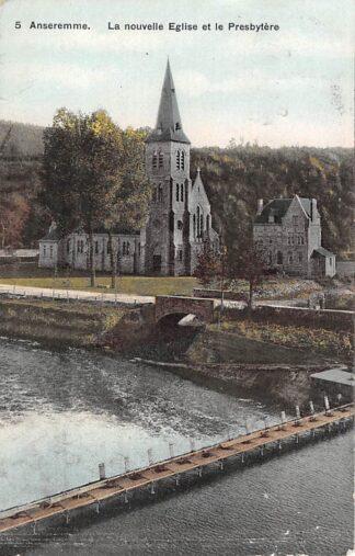 Ansichtkaart België Anseremme La Nouvelle Eglise et le Presbytere Dinant Europa 1909HC23040