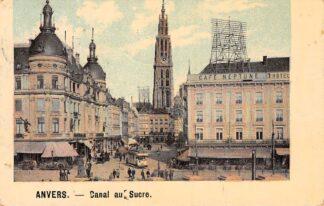 Ansichtkaart België Antwerpen Anvers Canal du Sucre Tram 1912 Europa HC23055