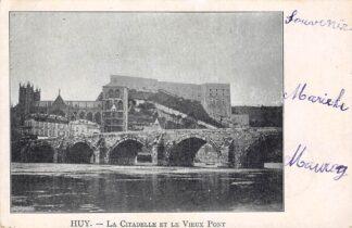 Ansichtkaart België Hoeu Huy La Citadelle et le Vieux Pont 1902 Europa HC23056