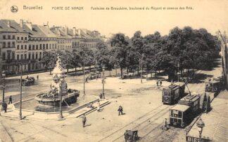 Ansichtkaart België Brussel Bruxelles Porte de Namur 1920 Trams Fontaine de Brouckere Boulevard du Regent et avenue des Arts Europa HC23060