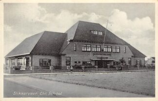 Ansichtkaart Slikkerveer Chr. School 1942 Ridderkerk HC23100