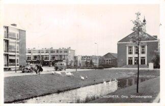 Ansichtkaart Slikkerveer Omg. Dilleburgplein met Christus Koning Gereformeerde Kerk VW Auto 1964 Ridderkerk HC23101