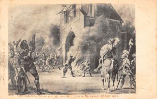 Ansichtkaart Barneveld Jan van Schaffelaar spring van den toren te Barneveld 16 Juli 1882 1903 HC23111