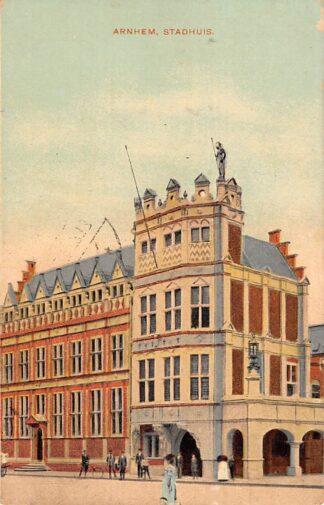 Ansichtkaart Arnhem Stadhuis 1907 HC23124