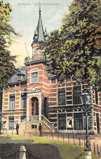 Ansichtkaart Bussum Gemeentehuis 1914 HC23125