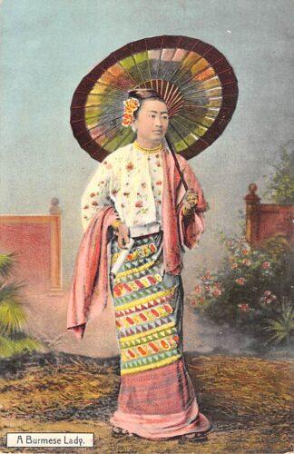 Ansichtkaart Birma Myanmar A Burmese Lady Azië HC23129