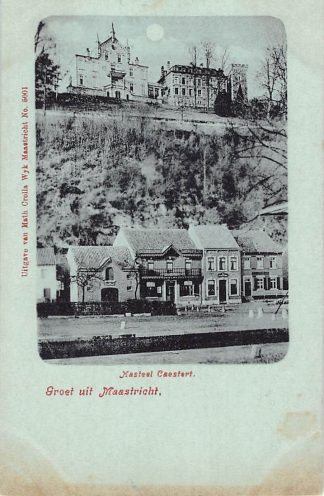 Ansichtkaart Maastricht Kasteel Caestert met sluis 1900 HC23135