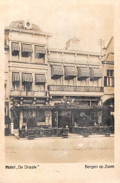 Ansichtkaart Bergen op Zoom Reclame Hotel Restaurant Pension De Draak 1930 HC23138