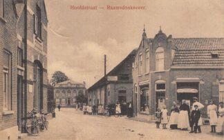 Ansichtkaart Raamsdonksveer Hoofdstraat Garage en Kruidenier Geertruidenberg HC23150