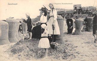 Ansichtkaart Zandvoort 2 Augustus Strand vermaak 1913 HC23168
