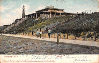 Ansichtkaart Huisduinen Badhuis en Vuurtoren Den Helder 1907 HC23173