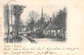 Ansichtkaart Rijswijk (ZH) Straat in 1900 Prachtig! 's-Gravenhage HC23174