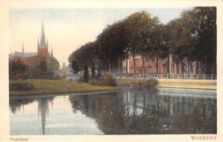 Ansichtkaart Woerden Oostdam met R.K. Kerk 1928 HC23176