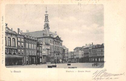 Ansichtkaart 's-Hertogenbosch Stadhuis Groote Markt 1903 HC23177