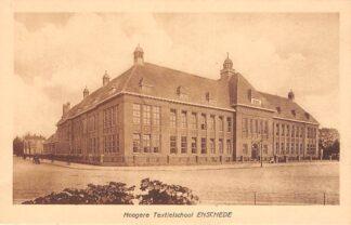 Ansichtkaart Enschede Hoogere Textiel school HC23187