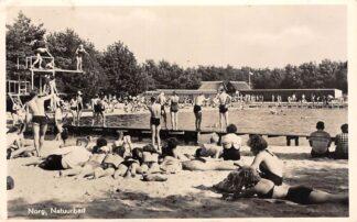 Ansichtkaart Norg Natuurbad 1955 Zwembad Noordenveld Drenthe HC23188