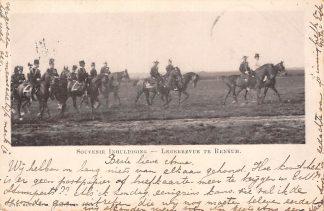 Ansichtkaart Renkum 1899 Militair Souvenir Inhuldiging Legerrevue te Renkum Soldaten te paard HC23190