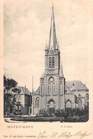 Ansichtkaart Wateringen R.C. Kerk 1902 Westland HC23199