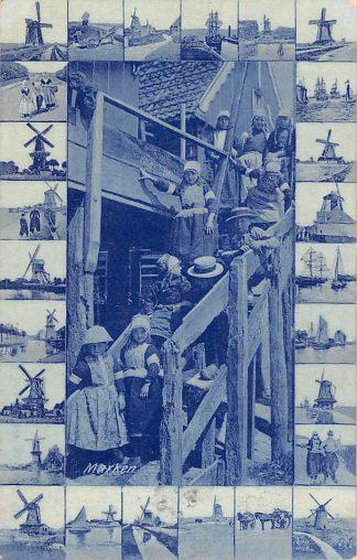 Ansichtkaart Marken Kinderen in klederdracht Molens in randjes 1906 HC23207