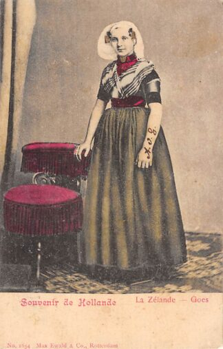 Ansichtkaart Goes La Zelande Zeeuwse vrouw in klederdracht 1902 HC23210
