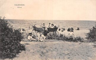 Ansichtkaart Valkeveen Strand Zuiderzee met ezelwagen 1914 Naarden IJsselmeer HC23224