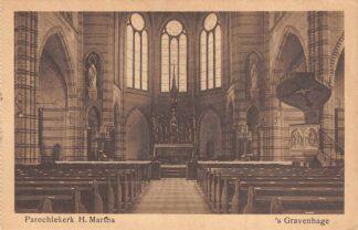 Ansichtkaart 's-Gravenhage Hoefkade Parochie kerk H. Martha HC23291
