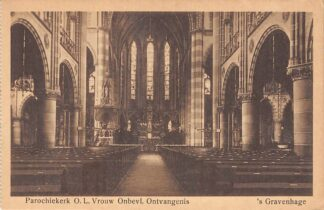 Ansichtkaart 's-Gravenhage Elandstraat Parochie kerk O.L. Vrouw Onbevl. Ontvangenis HC23292
