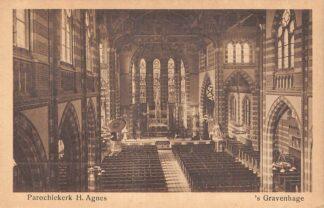 Ansichtkaart 's-Gravenhage Beeklaan Parochie kerk H. Agnes HC23295