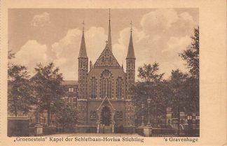 Ansichtkaart 's-Gravenhage Loosduinscheweg Groenestein Kapel der Schiefbaan-Hovius Stichting Kerk HC23298