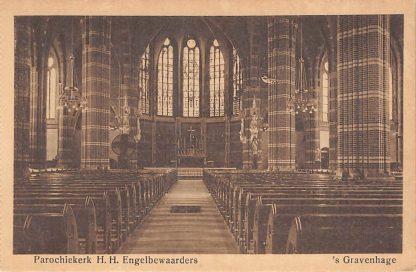 Ansichtkaart 's-Gravenhage Brandtstraat Parochie kerk H.H. Engelbewaarders HC23300