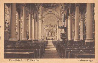 Ansichtkaart 's-Gravenhage Assendelftstraat Parochie kerk H. Willibrordus HC23302